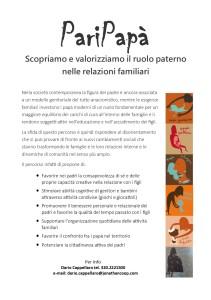 Volantino PariPapà_Retro